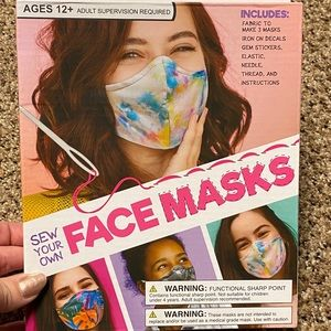 NWT Make Your Own Face Masks Craft sewing Kit